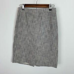 J.crew #2 pencil skirt size 0 black grey and cream